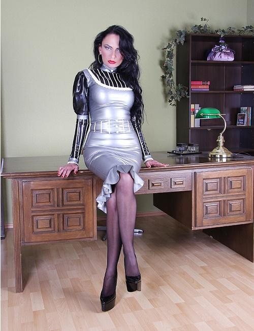 Silver Rubber Skirt