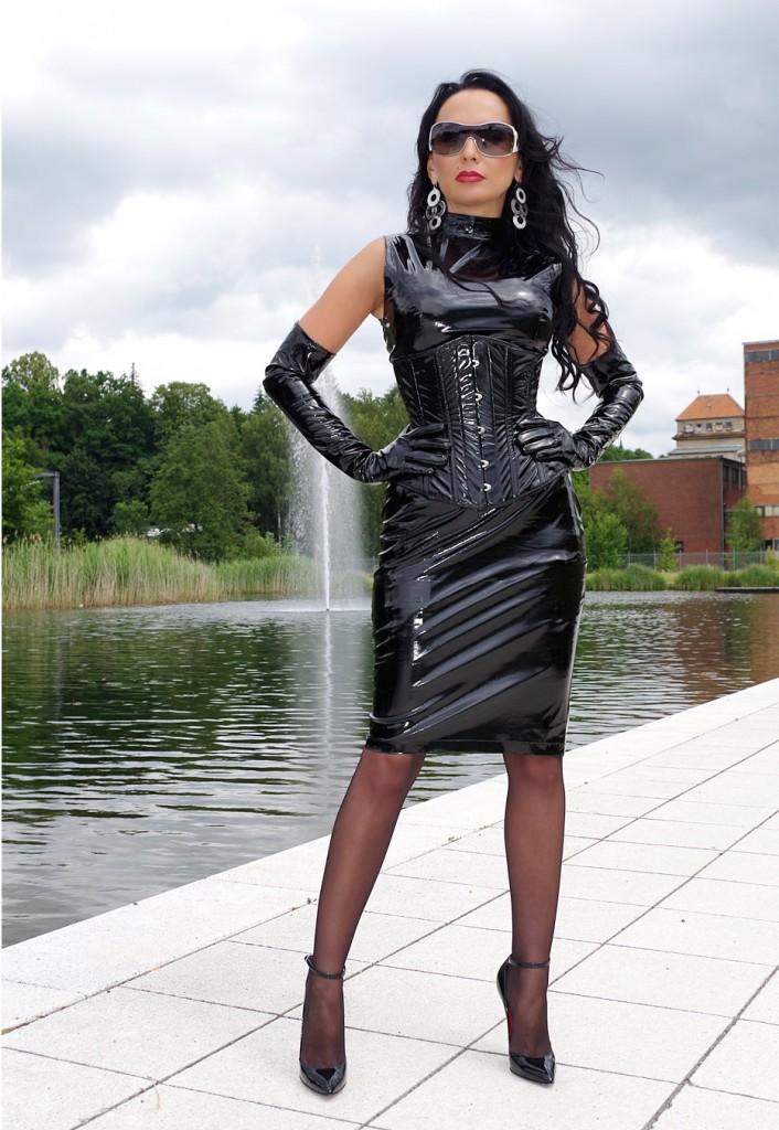 Skintight Black Sexy Vinyl Outfit